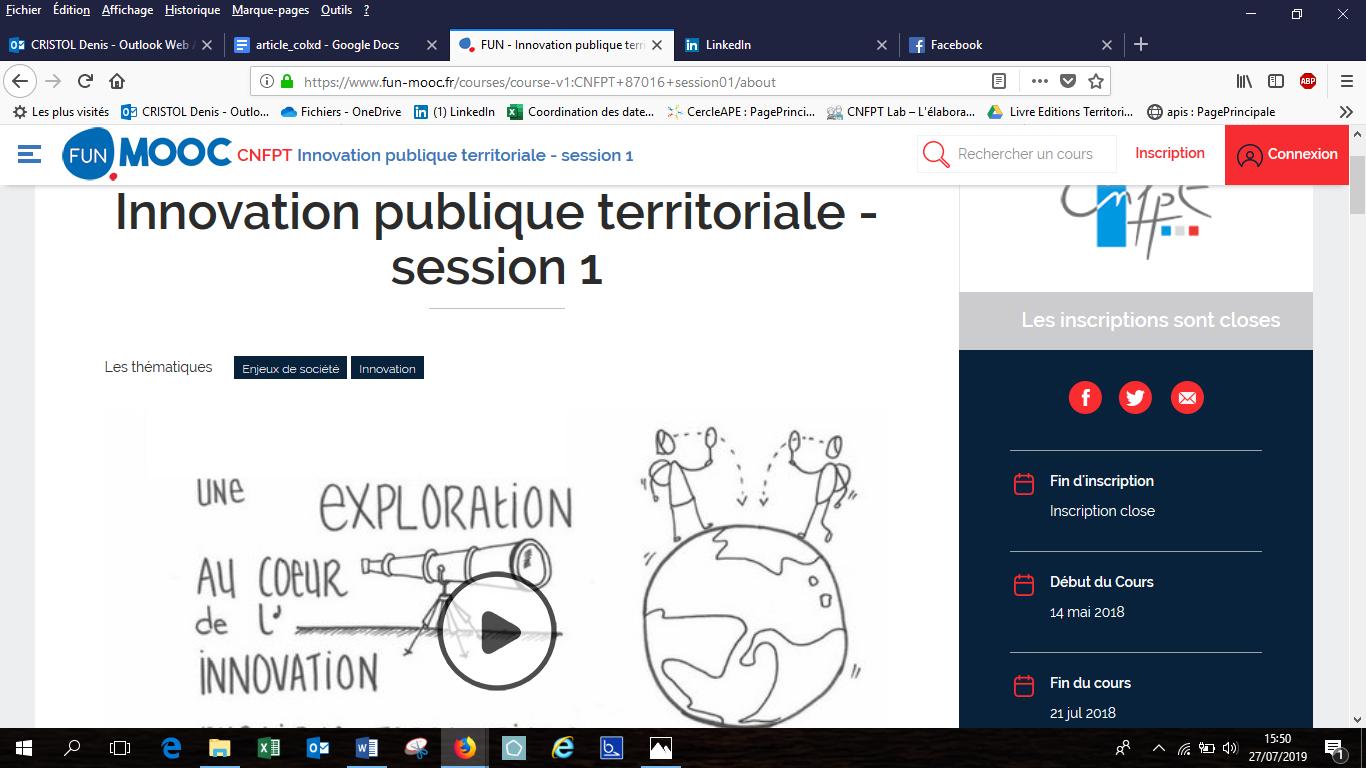 Screenshot of the MOOC