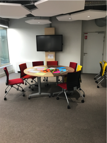 Learning lab with table and chairs