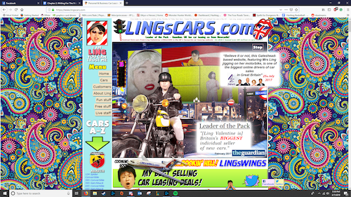 Lings Cars website homepage screenshot
