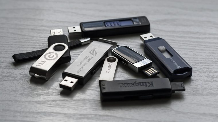 a bunch of thumb drives