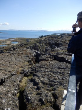 The actual gap between European/ N American tectonic plates or a photo opportunity